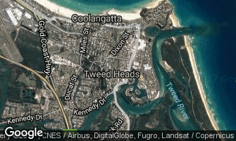 Map of Tweed Heads