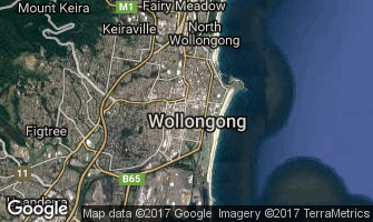 Map of Wollongong