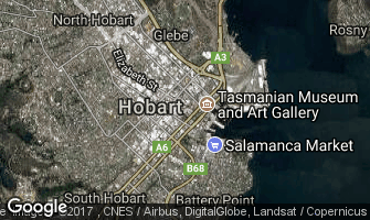 Map of Hobart