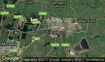 Map of Traralgon