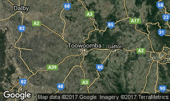Map of Toowoomba