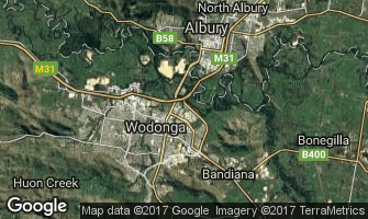 Map of Wodonga